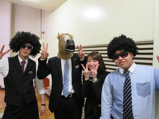 Yoshi (on left) - 1st year student