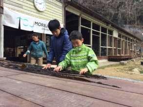 Drying Konbu seaweed