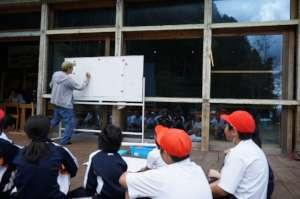 Local elementary school students in art program