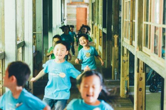 Children running the hallway