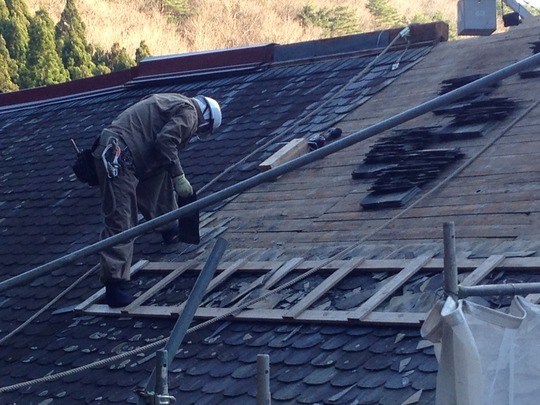 Restoration of roof by craftman