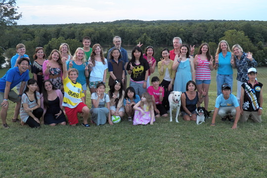 Students with Their Homestay Families