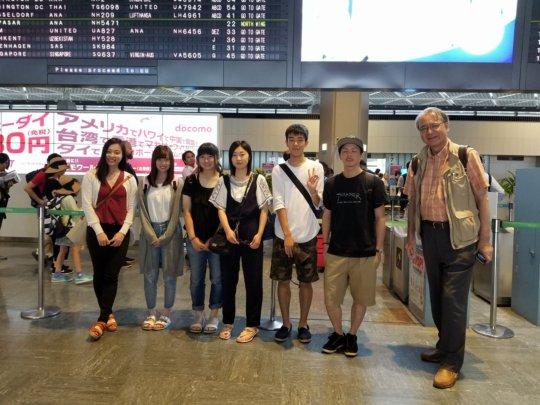 Ishinomaki Exchange Students Leaving Japan