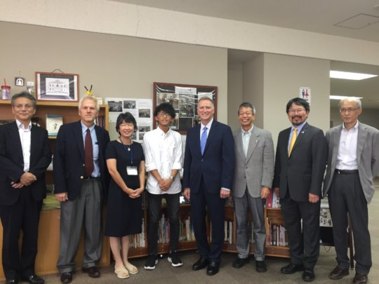 Charge D'Affaires Young & Consul Gen Lee at ISU