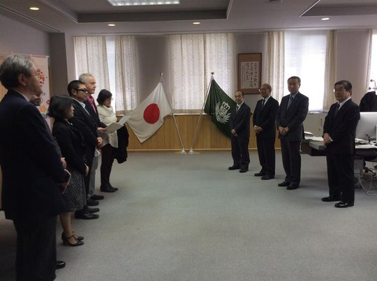 Ishinomaki Senshu Univ Taylor Bunko Ceremony