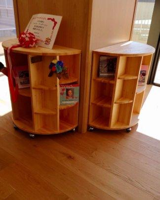 Onagawa ES and MS Taylor Bunko bookshelves