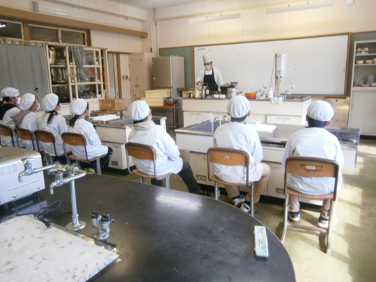 Students Learning from Chef