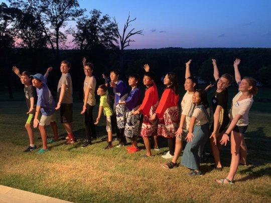 Students at Richmond Farewell Dinner