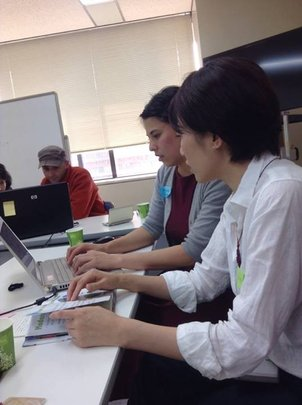 volunteers translating children's books