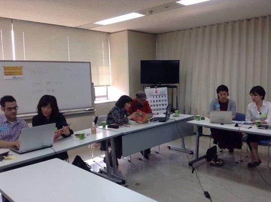 Volunteers translating Amb Kennedy's books