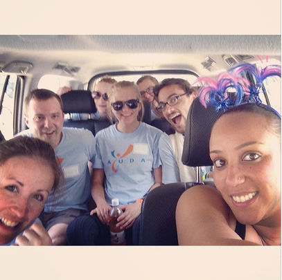 On the road with the AYUDA team to Camp Ami!