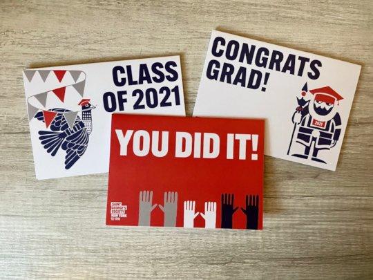 Congratulatory cards for our scholars