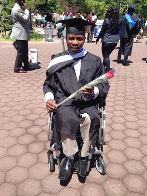 Edmund at the 2014 Commencement Ceremony