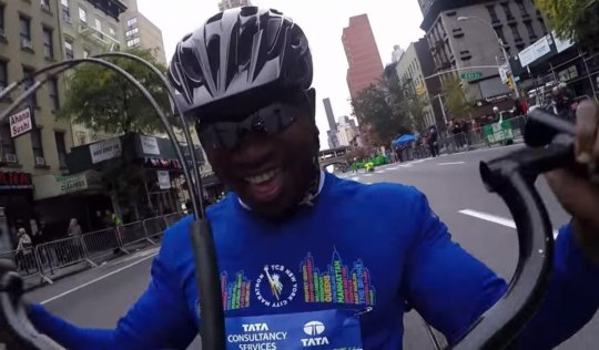 Edmund in the 2015 TCS New York City Marathon