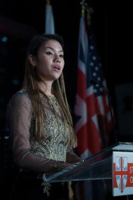 Sana speaking at English Ball