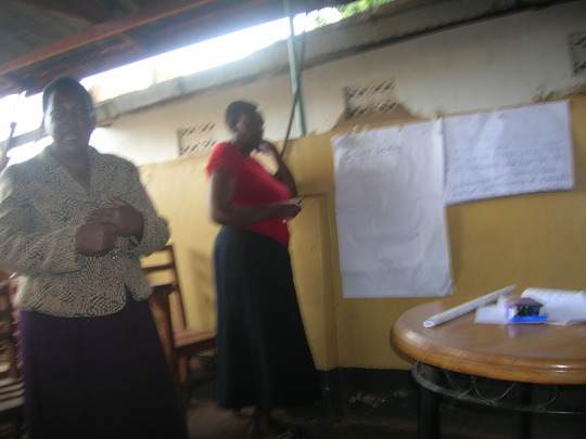 District Health officer facilitating