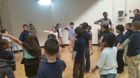 PS15 LTA 2nd grader teach poem GO WIND to audience