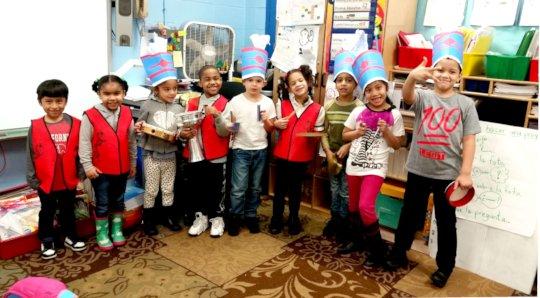 LTA kindergarterners at PS 163