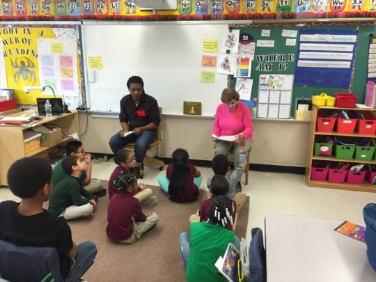 Haiku/Visual Arts (PS76): Losak reads to the class