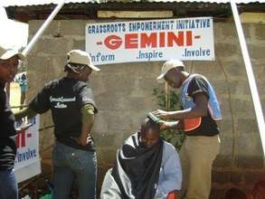 GEMINI volunteers attend to some of the displaced