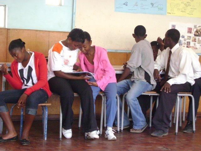 Girls in workshop