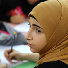 refugee girls learning and striving
