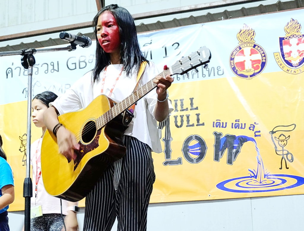 Young Leader using her talents..leading in Songs