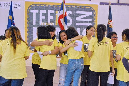 Trainers congratulate young leaders