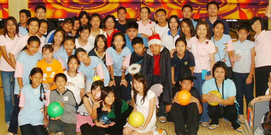 The participants in the Bowling event