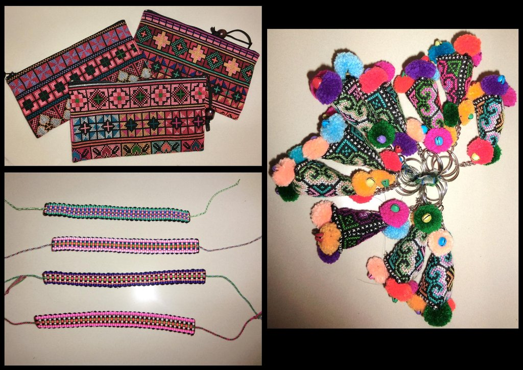Tribal designs made to bags,keychains & wristbands