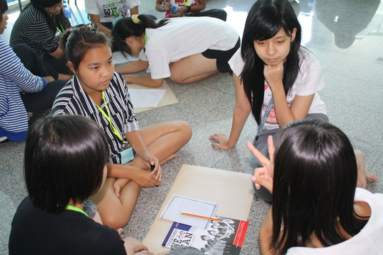 Small groups planning for different activities