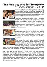 Report on youth leadership training (PDF)