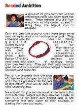 A report on a mini-enterprise project  (PDF)