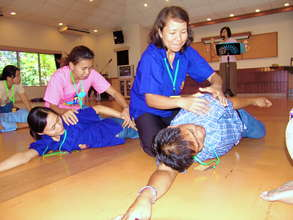Ongoing Training-Volunteers learn 1st Aid Skill