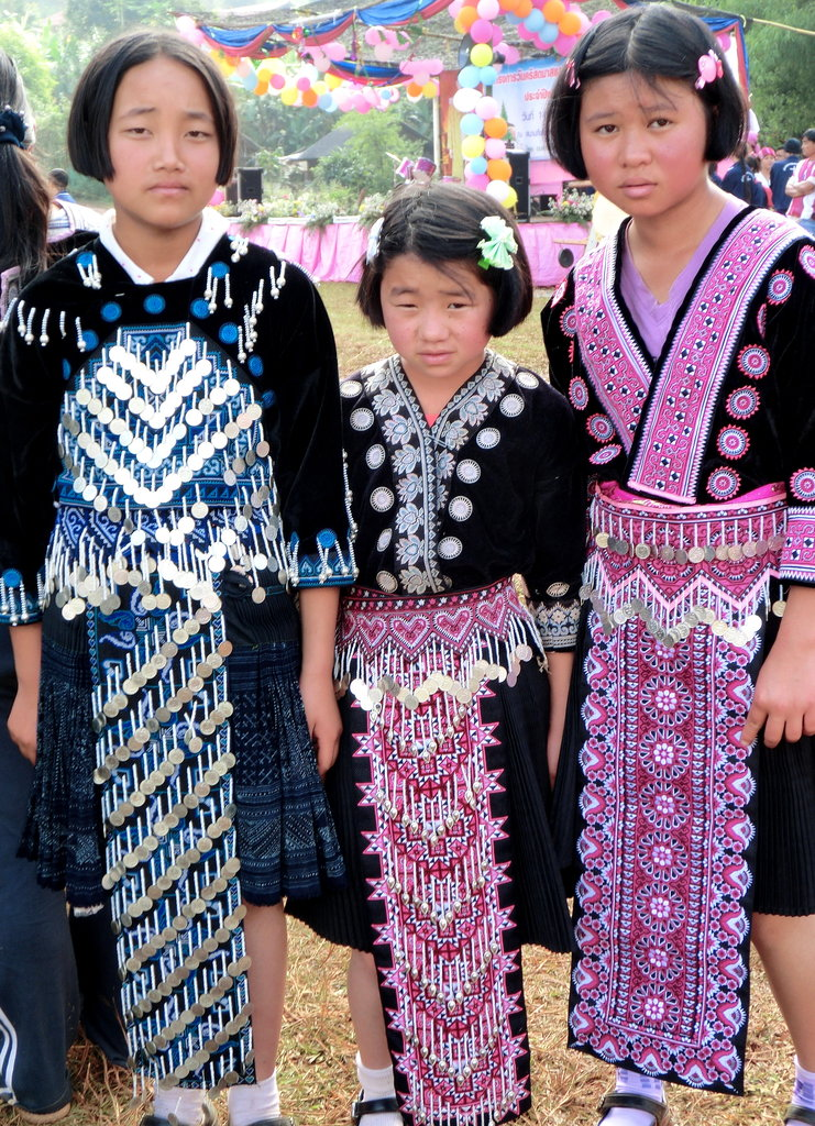 Wearing Tribal Costumes (note the designs)