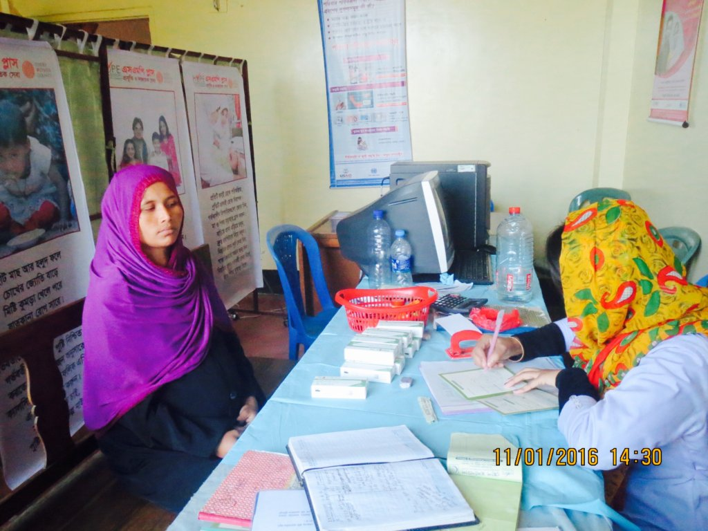 Rojina Receives Her 1st Antenatal Care Visit