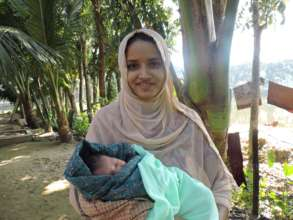 Taslima - a new mom with her baby boy