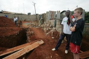 Kyle and Hillary visit the new Tabitha Medical Clinic constructi