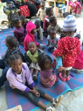 Children playing and learning