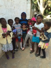 Children with new toys