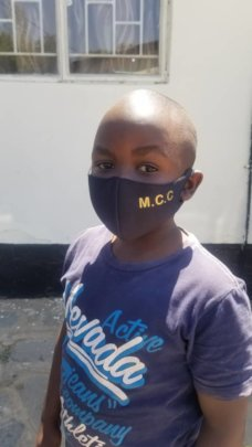 Masks provided to children learning about COVID