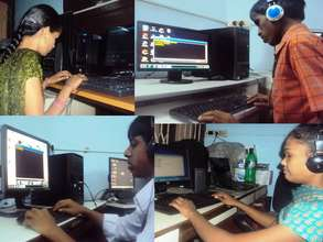 Children Getting trained in Computer Lab
