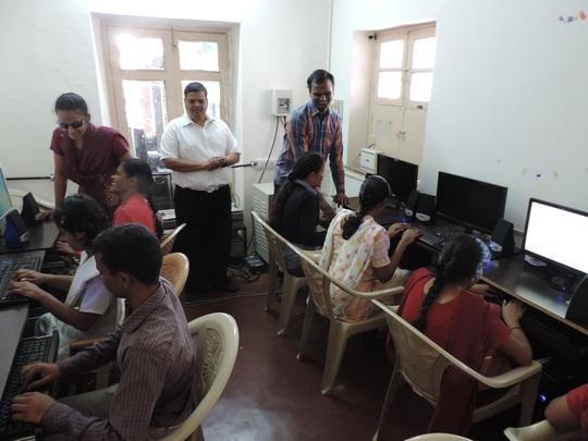 Children at Computer Lab Of Snehadeep