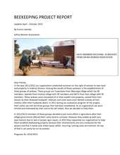 Safina Report on Beekeeping Project (PDF)