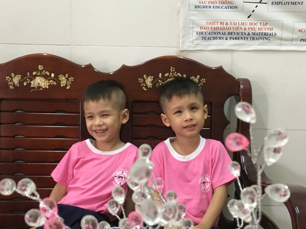 The laughing twin boys