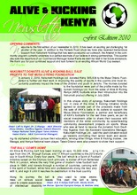 May 2010 News letter (PDF)
