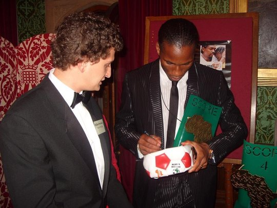 A&K with Didier Drogba at the Score4Africa Awards