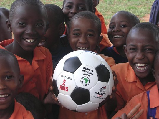 Making footballs that can save lives in Africa
