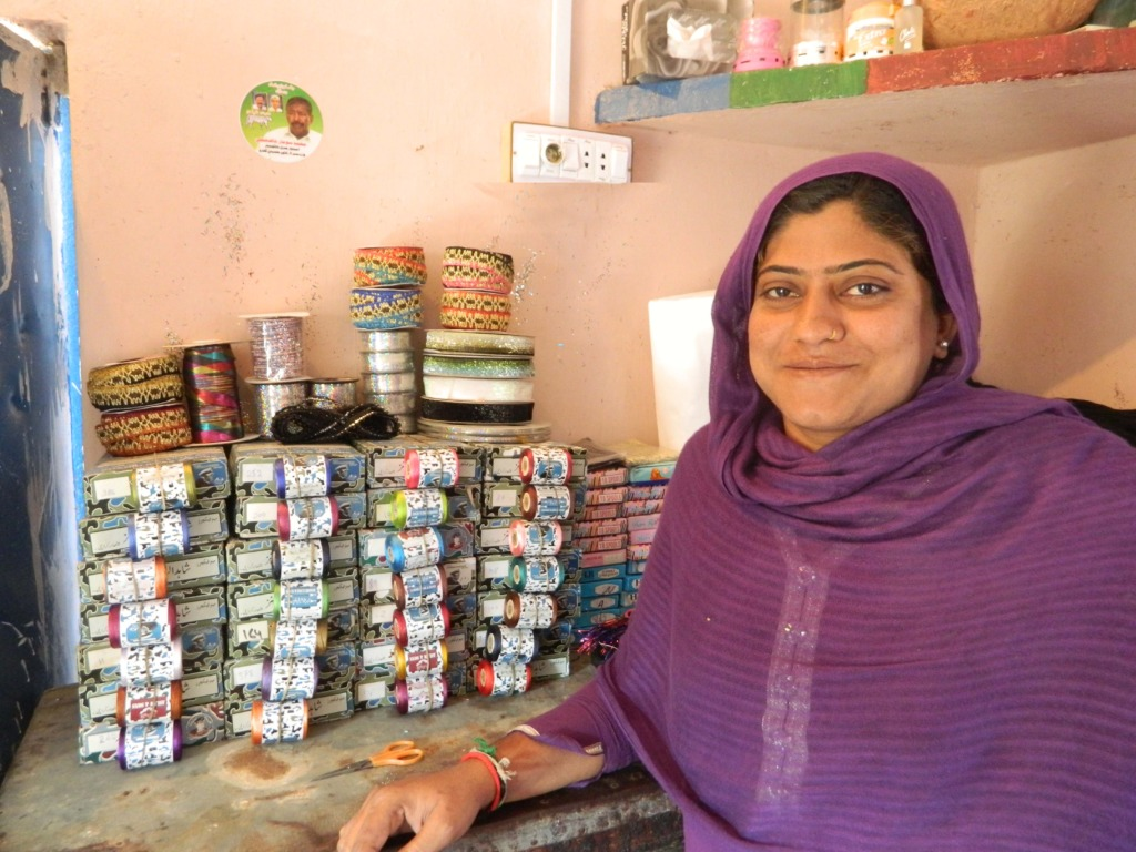 Farzana in her shop