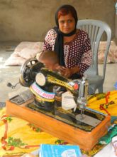 Meena with her Asset - sewing machine